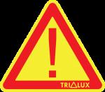 TRILUX žlutozelený svykřičníkem